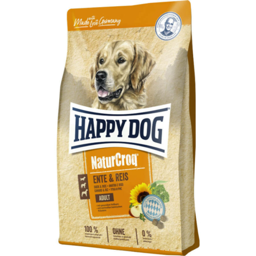 HAPPY DOG NATUR-CROQ ENTE & REIS