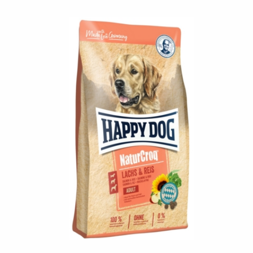 HAPPY DOG NATUR-CROQ LACHS & REIS